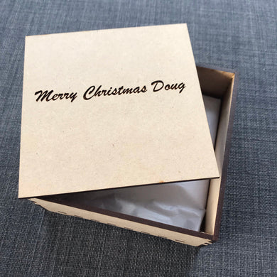 Gift Box with Lid - Script Font - Wilson-Made
