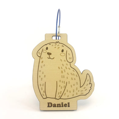 Luggage Tag (Cute Dog) with Custom Engraving