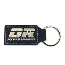 Load image into Gallery viewer, Leatherette Key Ring with Custom Logo Engraving (Black) - Wilson-Made