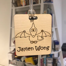 Load image into Gallery viewer, Luggage Tag (Cute Pterodactyl) with Custom Engraving - Wilson-Made