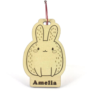 Luggage Tag (Cute Rabbit) with Custom Engraving