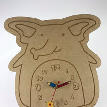 Load image into Gallery viewer, Kids Hanging Clock (Cute Elephant) with Custom Engraving - Wilson-Made