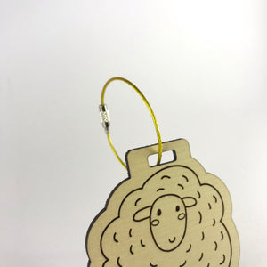 Luggage Tag (Sheep) with Custom Engraving - Wilson-Made