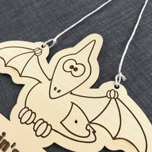 Load image into Gallery viewer, Kids Hanging Name Tag (Pterodactyl) with Custom Engraving - Wilson-Made
