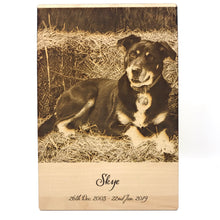 Load image into Gallery viewer, Pet Photo Engraving (Medium) - Wilson-Made