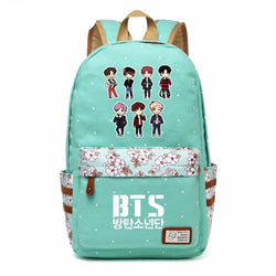 Bangtan Boys BTS Canvas Flower Backpack - iamkpopped