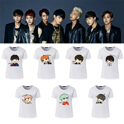 BTS Cartoon Lovely Printed Casual T-shirts - iamkpopped