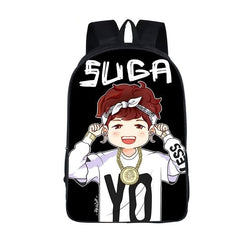 BTS Backpack for Teenagers Hip Hop Girls - iamkpopped