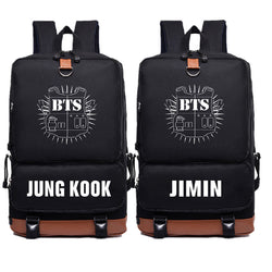 BTS Bangtan Boys JUNG KOOK JIMIN Backpack - iamkpopped
