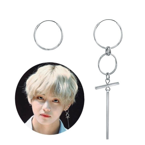 BTS V DNA Korean Long Earrings - iamkpopped