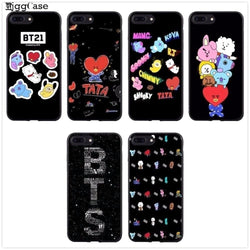 BTS BT21 Love Yourself Soft Silicone iPhone Phone Case - iamkpopped