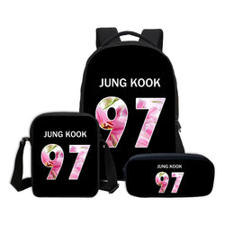 3 PCS/SET BTS Letter Printing Backpacks - iamkpopped