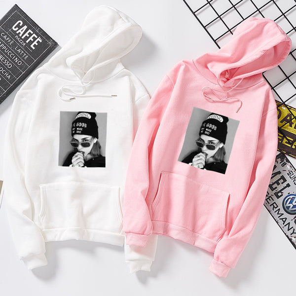 Cute Cartoon Print Blackpink Hoodies - iamkpopped