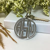 Custom 3 Three Letter Monogram Gatsby Round Key Fob Acrylic Laser Cut Closing Gift