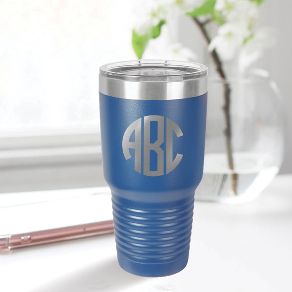 custom engraved 30 oz. tumbler drinkware best sellers custom closing gift blue with clear lid