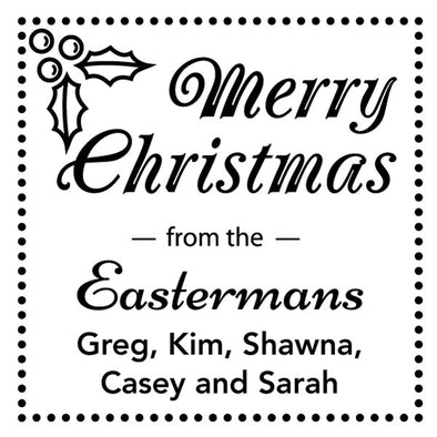 Custom Merry Christmas Square Stamp