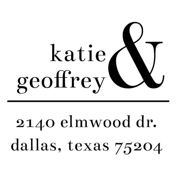 Couple and Roommate First Name Return Address Custom Designer Stamp