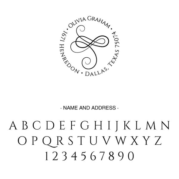 Round Return Address Custom Designer Stamp