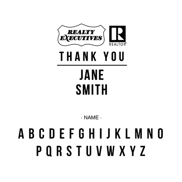 Realty Executive Branded Thank You Name Custom Designer Stamp