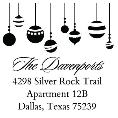 Custom Ornament Script Address Stamp