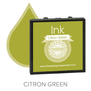Citron Green Replaceable Stamper Ink Pad Good for Over 1000 Impressions