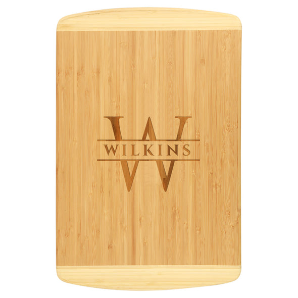 Elegant Engraved Bamboo Cutting Board