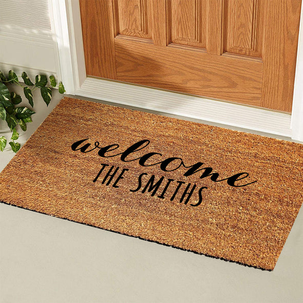 Custom Made Doormat with Family Name New Home Closing Gift
