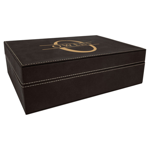 Engraved Leather Gift Box