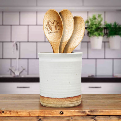 Custom Engraved Wooden Kitchen Spoon Decorative Monogram Name Closing Gifts