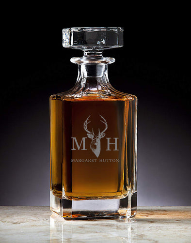 Classic Custom Engraved Crystal Decanter