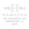 Square Monogram Address Custom Designer Embosser