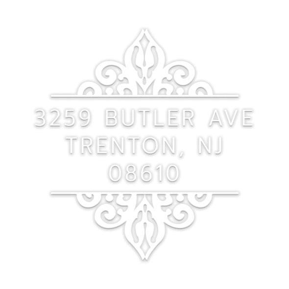 Ornate Address Custom Designer Embosser