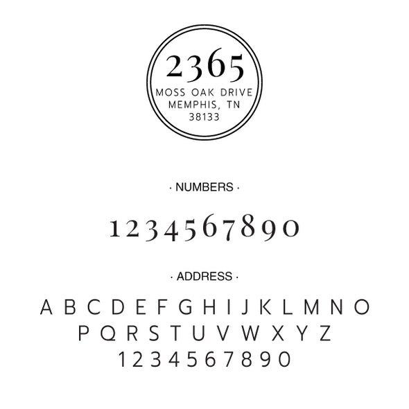 Round Address Custom Designer Embosser