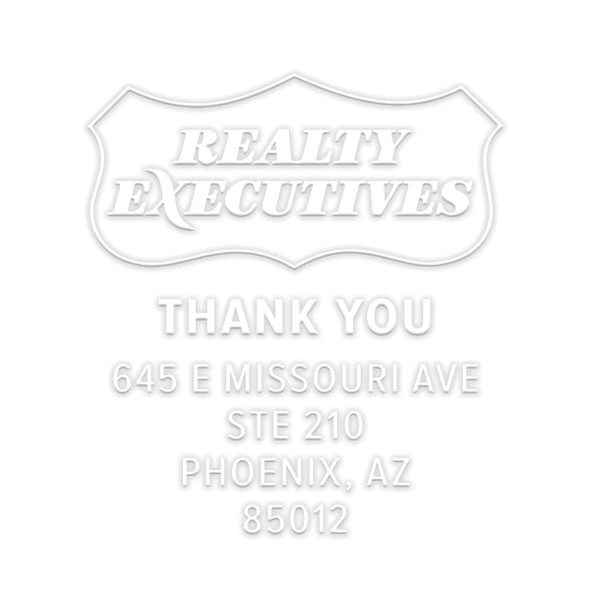 Realty Executives Branded Thank You Name and Address Custom Designer Embosser