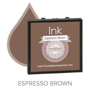 Espresso Brown Replaceable Stamper Ink Pad Good for Over 1000 Impressions