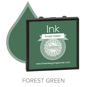 Forest Green Replaceable Stamper Ink Pad Good for Over 1000 Impressions