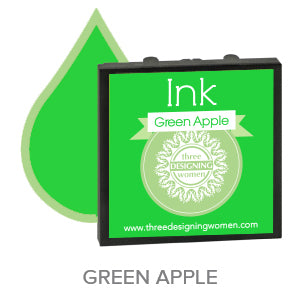 Green Apple Replaceable Stamper Ink Pad Good for Over 1000 Impressions