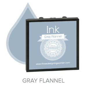 Gray Flannel Replaceable Stamper Ink Pad Good for Over 1000 Impressions