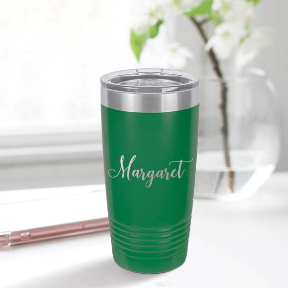 custom engraved 20 oz. tumbler best sellers custom gift green with clear lid closing gift