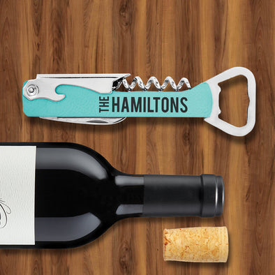 Engraved Wine & Bottle Opener