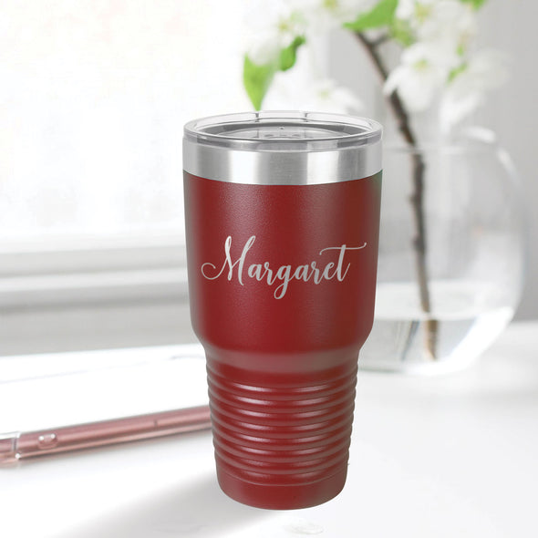 custom engraved 30 oz. tumbler best sellers custom gift maroon with clear lid closing gift