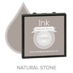 Natural Stone Replaceable Stamper Ink Pad Good for Over 1000 Impressions