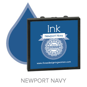 Newport Navy Replaceable Stamper Ink Pad Good for Over 1000 Impressions