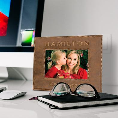 Engraved Vegan Leather Photo Frame