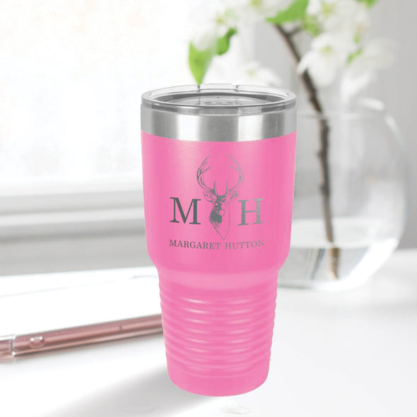 custom engraved 30 oz. tumbler best sellers custom gift pink with clear lid closing gift