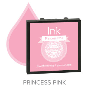 Princess Pink Replaceable Stamper Ink Pad Good for Over 1000 Impressions