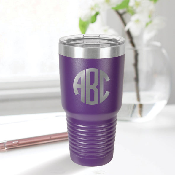 custom engraved 30 oz. tumbler best sellers custom gift purple with clear lid closing gift