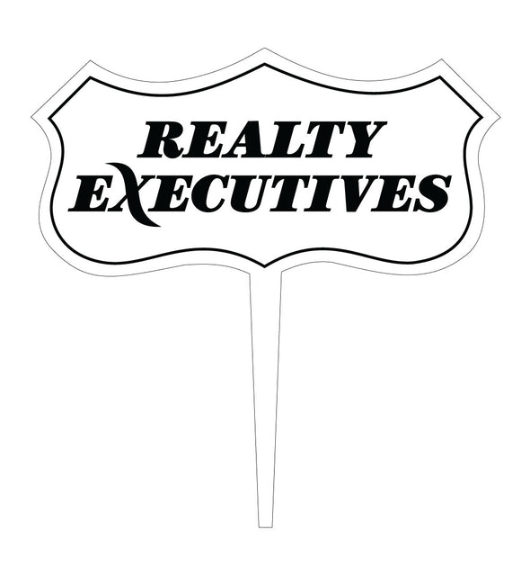 realty executive logo branded engraved cupcake topper