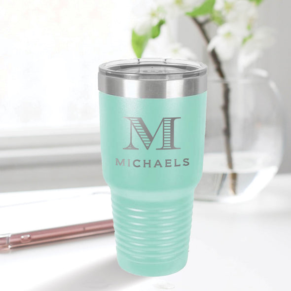 custom engraved 30 oz. tumbler drinkware best sellers custom closing gift aqua blue teal tiffany blue with clear lid