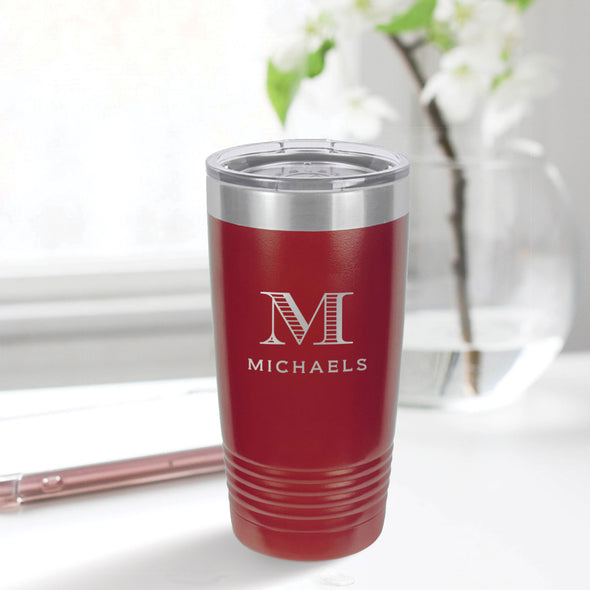 custom engraved 20 oz. tumbler best sellers custom gift maroon with clear lid closing gift